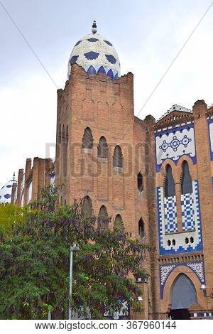 Monumental Old Bullring In Barcelona Spain Europe