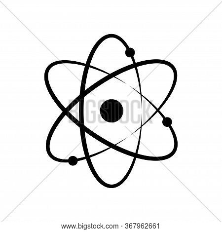 Atom Or Proton Nucleus. Vector Isolated Icon Element. Biology Science Background. Science Technology