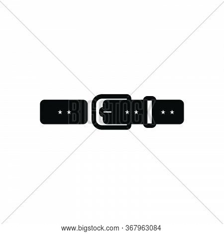 Black Solid Icon For Belt Buckle Waistband Garment