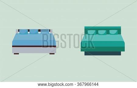 Bed Design, Bed Set Design,bed Vector Concept