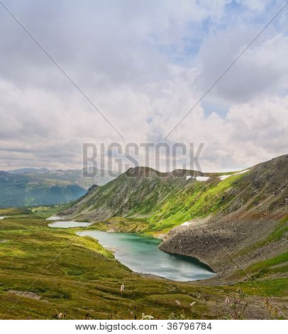 poster of Top view of Karakol lakes in Altai mountains. Altai Suberia