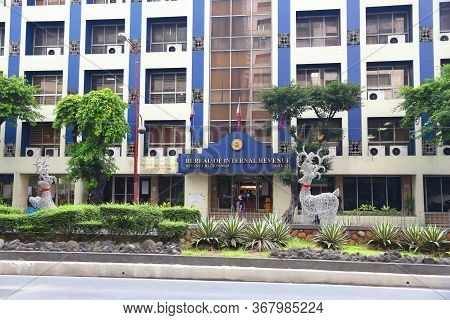 Manila, Philippines - December 7, 2017: Bureau Of Internal Revenue In Makati, Greater Manila, Philip