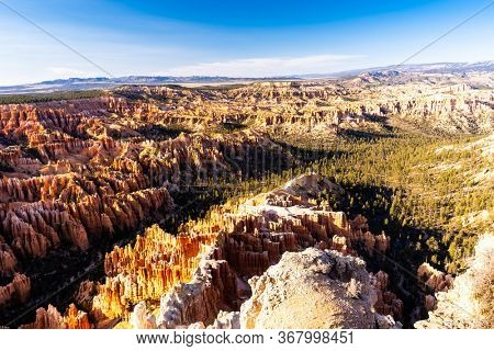 Landscape Hoodoos in Bryce Canyon National Park viewpoint in Utah United States. USA American National Park Landscape travel destinations and tourism concept.