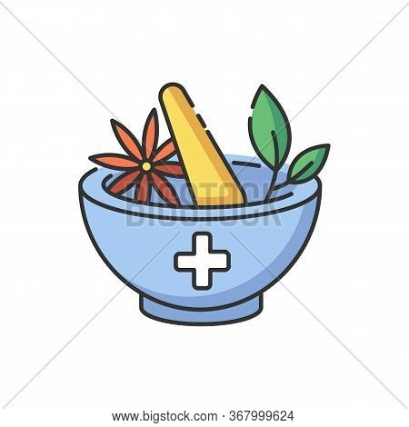 Ayurveda Rgb Color Icon. Ayurvedic Treatment. Alternative Medicine. Indian Traditional Health Care S
