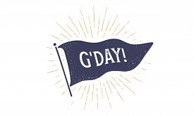 Goodbye. Flag Grahpic. Old Vintage Trendy Flag With Text Goodbye. Vintage Banner With Ribbon Flag, V