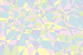 Geometric Pattern In Pastel Colors. Abstract Background From Triangles. Vector Illustration. Stock P