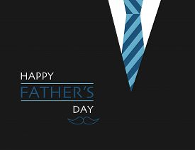 Fathers Day With Black Tuxedo And Necktie. Holiday For Daddies Or Papa. Best Father Ever. Mustache I
