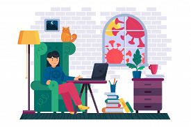 Work At Home While Corona Virus Infection Pandemic