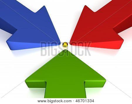 3D Arrows - 3 Colors - Production