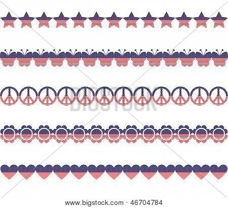 Stars Stripes Borders