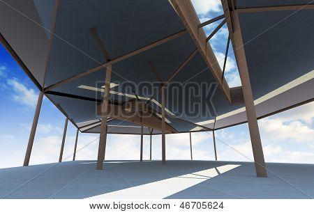 Futuristic Architecture With Organic Structure