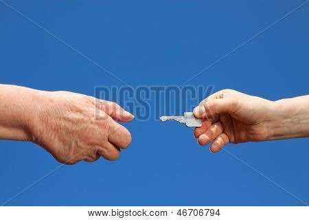 Key Handover Between Young And Old
