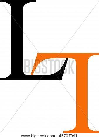 Artwork with alphabet L