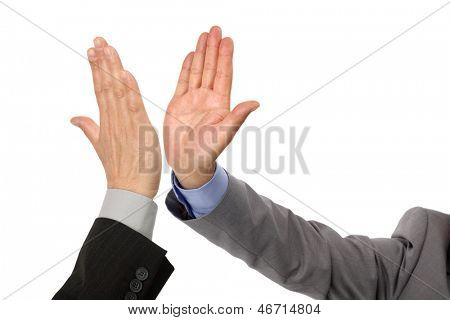 High five concept for success, teamwork, congratulating and celebration