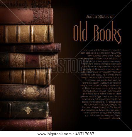 Stapel alter Bücher, Exemplar für Ihren text