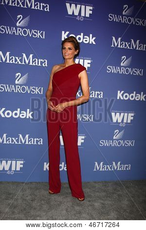 LOS ANGELES - JUN 12:  Stana Katic arrives at the Crystal and Lucy Awards 2013 at the Beverly Hilton Hotel on June 12, 2013 in Beverly Hills, CA