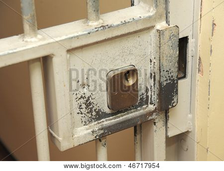 Prison cell lock