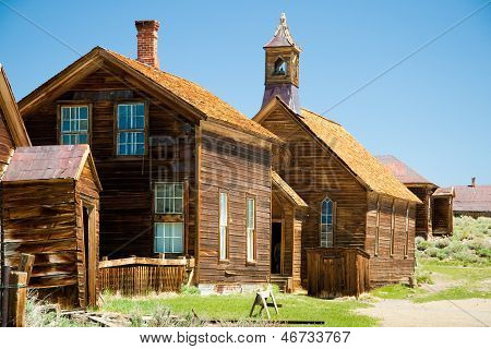 Closeup Of Historic Buildings At Bodie