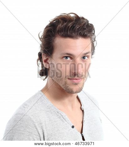 Portrait Of An Attractive Man Looking At Camera