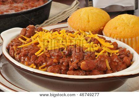 Closeup Of Chili Con Carne