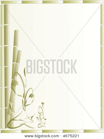 Bamboo Background Illustration..