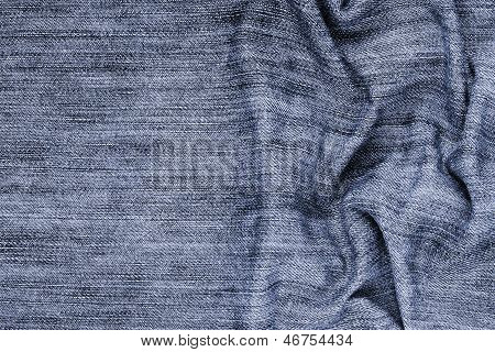 Close-up Of The Blue Jeans Cloth