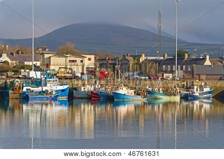 Irish seaport scenery in Dingle, Co. Kerry