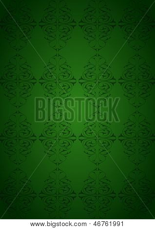 Ottoman Pattern and green background