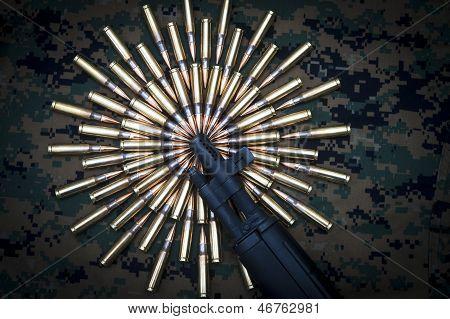 Rifle muzzle ammo