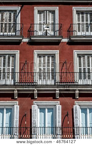 Building fa���§ade in Madrid, Spain