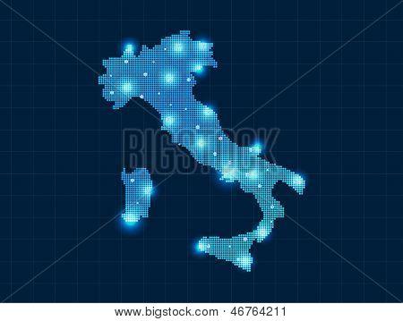 pixel Italy map