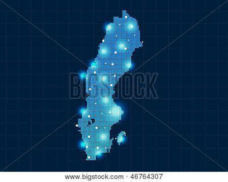 pixel Sweden map