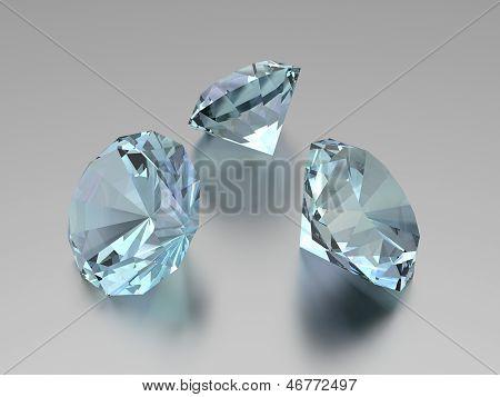 3D Diamonds - 3 Gems