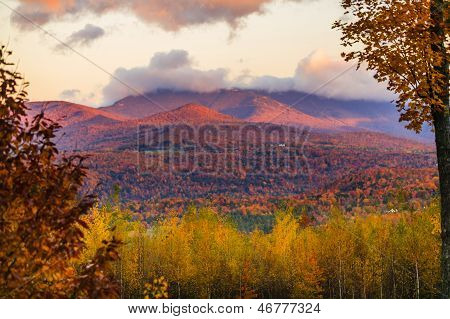 Fall Foliage On Mt. Mansfield In Stowe, Vermont, Usa