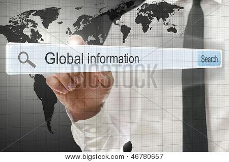 Global Information Written In Search Bar