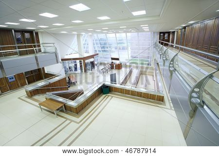 MOSCOW - AUGUST 18: Empty hall in MGIMO, on August 18, 2012 in Moscow, Russia. Moscow State Institute of International Relations founded October 14, 1944.
