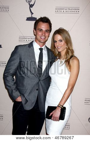 LOS ANGELES - JUN 13:  Darin Brooks, Kelly Kruger arrives at the Daytime Emmy Nominees Reception presented by ATAS at the Montage Beverly Hills on June 13, 2013 in Beverly Hills, CA