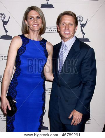 LOS ANGELES - JUN 13:  Colleen Bell, Brad Bell arrives at the Daytime Emmy Nominees Reception presented by ATAS at the Montage Beverly Hills on June 13, 2013 in Beverly Hills, CA