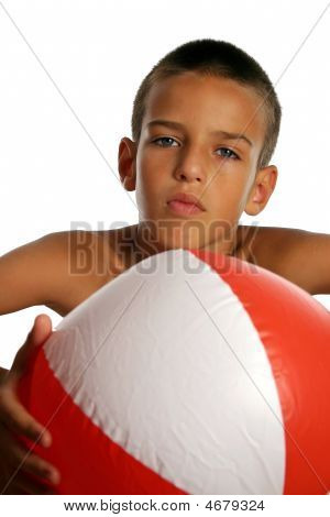 Boy With Beach Ball