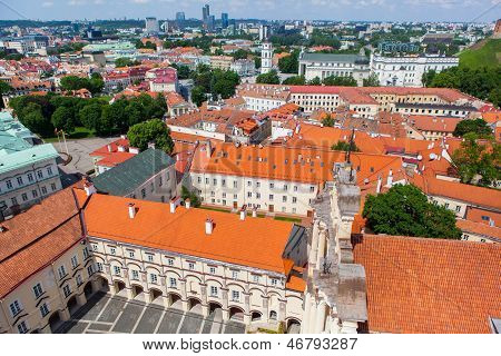 Panoramic view of Vilnius University