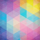 Colorful abstract triangles abstract vector background. This is file of EPS10 format. poster