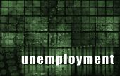 Unemployment Rates Abstract Background as a Art poster