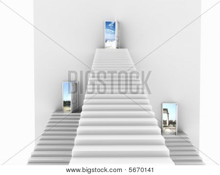 Three Upcoming Stairs