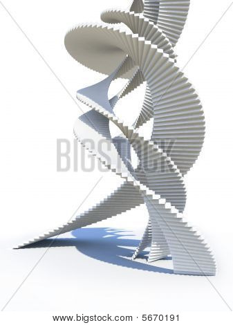 Abstract staircase design