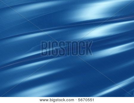 Folded Blue Structure