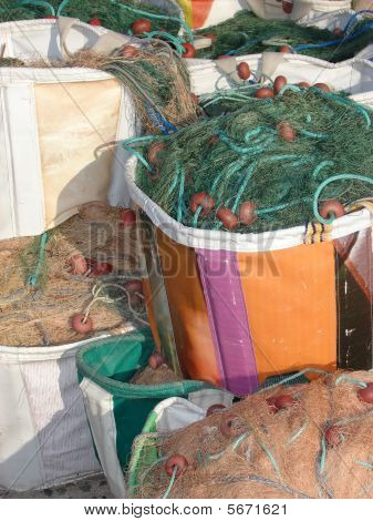 Bags with fishing nets