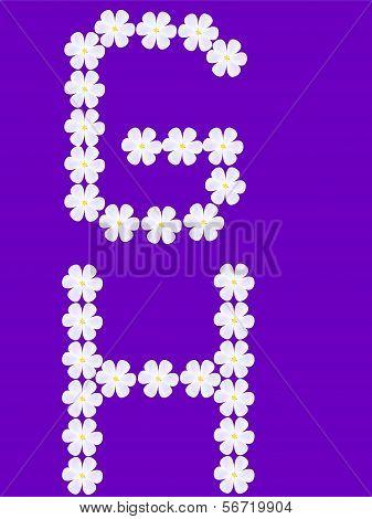 flowers letter g,h