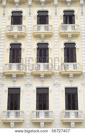 windows in the house of the camera oscura, Plaza Vieja, Havana, Cuba