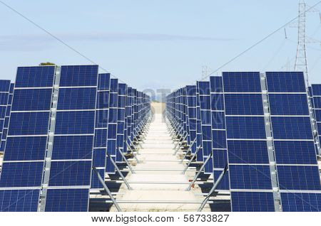 forefront of solar panels for power production