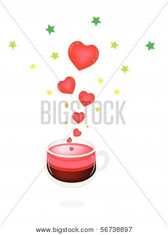 A Cup Of Hot Coffee With Love